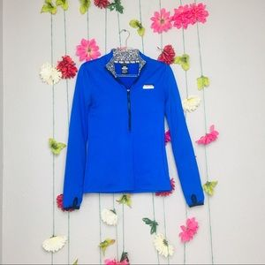 Pink Victoria's Secret Ultimate Blue Quarter Zip